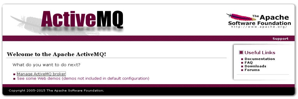 ActiveMQ landing page