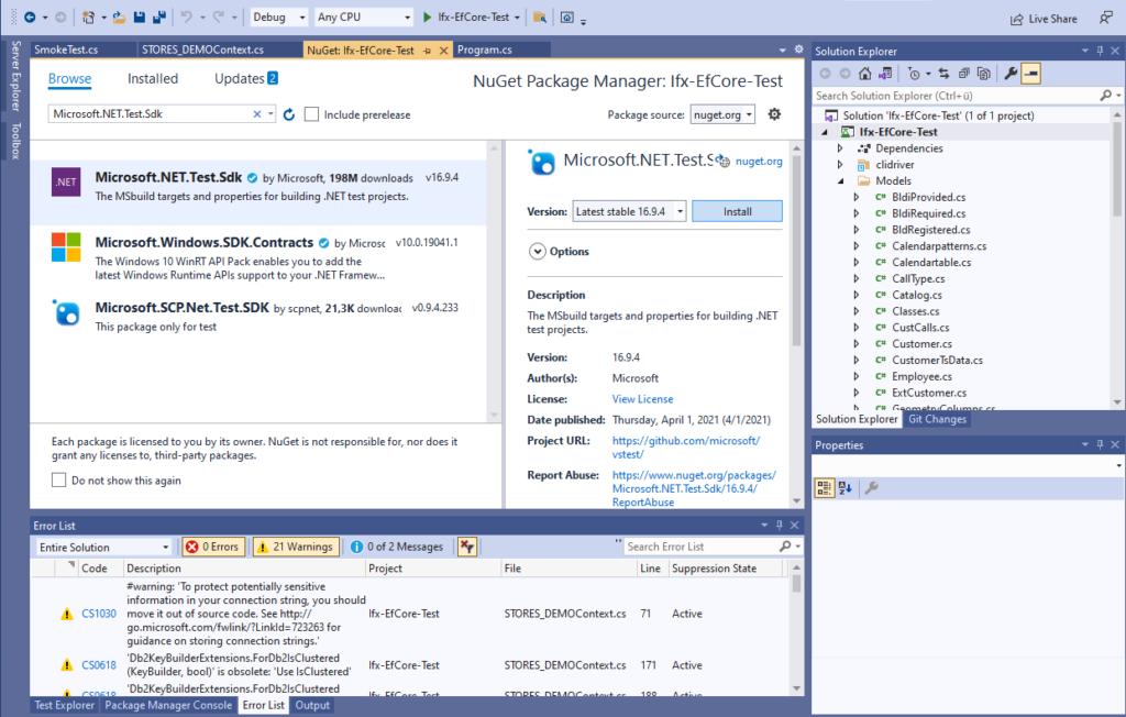 Add Microsoft.NET.Test.Sdk NuGet package