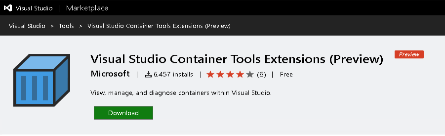 Visual Studio Container Tools Extensions