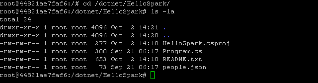 The initial HelloSpark project files