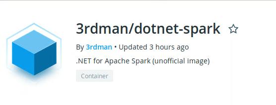 .NET for Apache Spark docker image