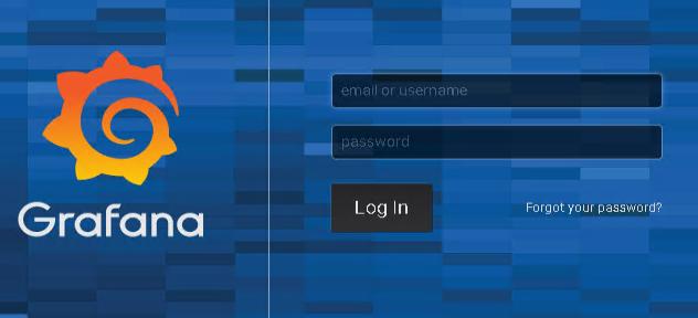 The initial Grafana login screen