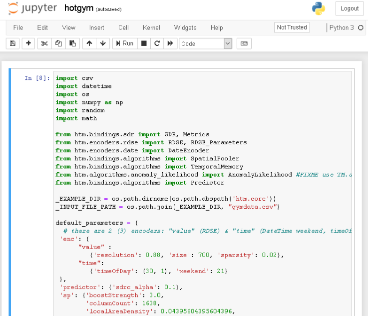 htm.core-jupyter - hotgym example