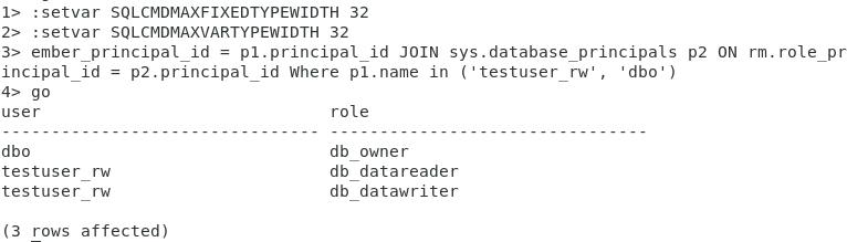 SQL Server - confirm role membership
