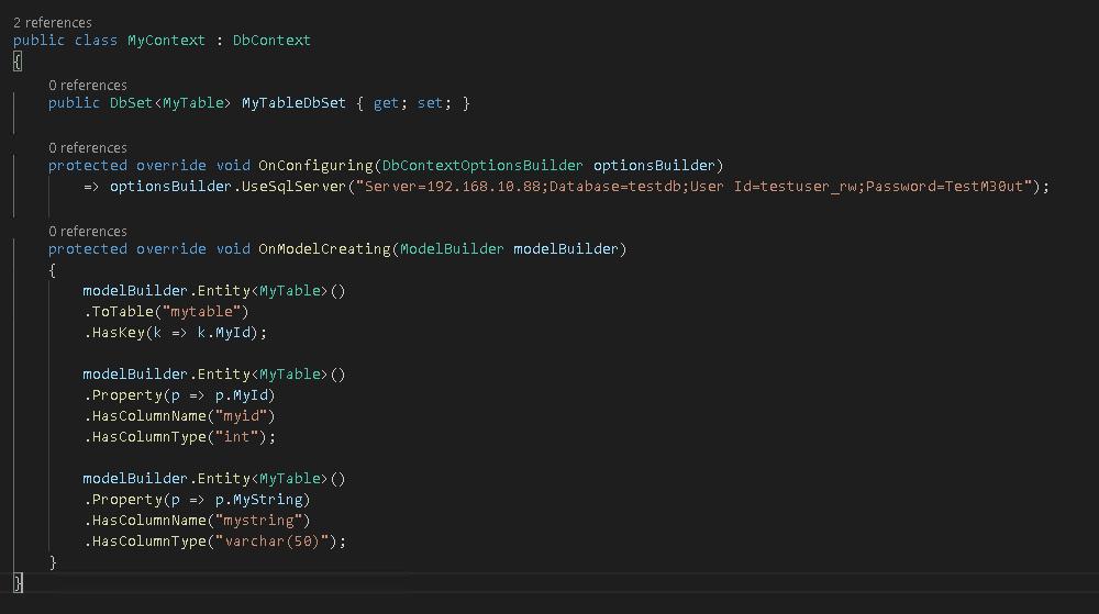 Adjusting MyContext